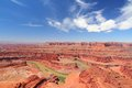 Dead horse point state park in utah united states famous colorado river canyon carved in red sandstone Royalty Free Stock Photo