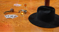 Dead man s hand believed to be the held by wild bill hickok when he was assisinated Royalty Free Stock Photos