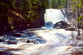 Dead river falls a waterfall along in marquette michigan Stock Images