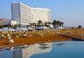 Dead sea beach Royalty Free Stock Photo