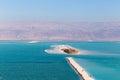 Dead Sea beach island. Royalty Free Stock Photo