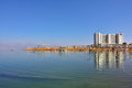 Dead sea israel apr tourists have a rest in the crowne plaza resort one from many resorts of s part of Stock Photography