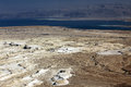 Dead sea and jordan mt view of ancient city masada israel the Stock Photos