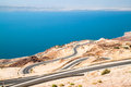 Dead sea road area, curvy highway Stock Image