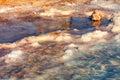 Dead Sea salt shore Royalty Free Stock Photo