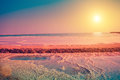 Dead sea salt shore Royalty Free Stock Photo