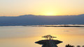 Dead sea sunrise over israel Royalty Free Stock Image