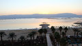 Dead sea at sunrise time israel Royalty Free Stock Images