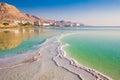 Dead sea at sunrise Royalty Free Stock Photo