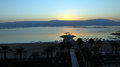 Dead sea surise over israel Stock Photography