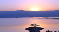 Dead sea surise over israel Stock Image
