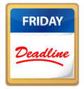 Deadline calendar illustration design Royalty Free Stock Images