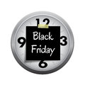Deadline clock for start black friday shopping s buying time a season isolated on white background Stock Photo