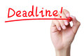 Deadline concept drawing with red marker Royalty Free Stock Photography