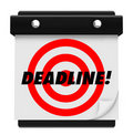 Deadline - Hanging Wall Calendar Royalty Free Stock Photography