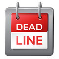Deadline icon Stock Photography