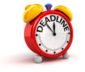 Deadline time image with clipping path Stock Images