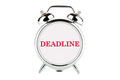 Deadline word on the alarm clock