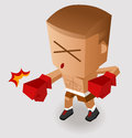 Deadly boxing punch vector illustration Royalty Free Stock Photography