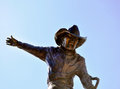 Deadwood rodeo rider statue south dakota Royalty Free Stock Photography