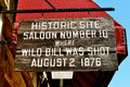 Deadwood saloon sign south dakota Stock Photos