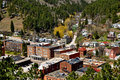 Deadwood south dakota city view Royalty Free Stock Photos