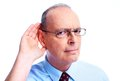 Deaf man. Royalty Free Stock Photo