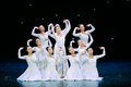 Deaf sign language dance december in nanchang china disabled art troupe performances Stock Photography