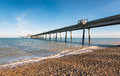 Deal pier the at on the kent coast Stock Photography