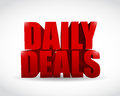 Daily deals sign illustration design over a white background Royalty Free Stock Image