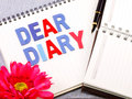 Dear diary word Royalty Free Stock Photo