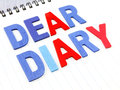 Dear diary word on white paper notebook Royalty Free Stock Photo