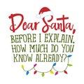 Dear Santa, before I explain, how much do you know already? Royalty Free Stock Photo