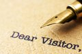 Dear visitor close up of Royalty Free Stock Images