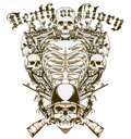 Death or glory vector illustration ideal for printing on apparel clothes Stock Photo