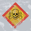 Death hazard grunge sign acute toxicity in conformity edited in a style Stock Photos
