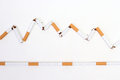 Death or live broken cigarette continuance cigarette Royalty Free Stock Photos
