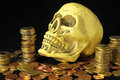 Death and Money Concept Skull Royalty Free Stock Photo