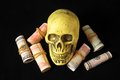 Death and Money Concept Royalty Free Stock Photo