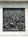 The death of nelson at trafalgar relief under s column in square in london Royalty Free Stock Images