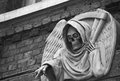 Death photo of a statue outside the london dungeon uk Royalty Free Stock Photography