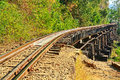 Death railway or thailand–burma railway was biult during world war ii Stock Photography