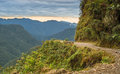 Death road in bolivian yungas Stock Image