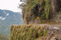 Death road to coroico in bolivian yungas Stock Images