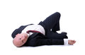 Death of a salesman sales man or passed from shock Royalty Free Stock Photography