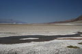 Death valley from badwater basin Royalty Free Stock Photography