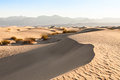Death valley desert sand dunes of mesquite flat in california Stock Photo