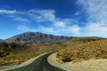 Death valley great american road crossing a huge in nevadia Stock Photography