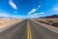 Death valley highway on the road landscape of the route crossing the Royalty Free Stock Photo
