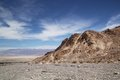 Death valley mosaic canyon with a very nice blue sky in Royalty Free Stock Image